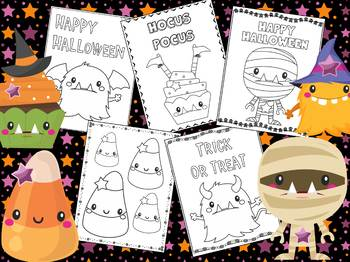 Halloween - The Crayon Crowd Coloring Pages, Monsters, Mummy, Witch