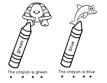 """The Crayon Sight Word Book for """"is"""""""