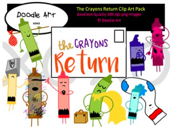 The Crayons Return Clipart Pack
