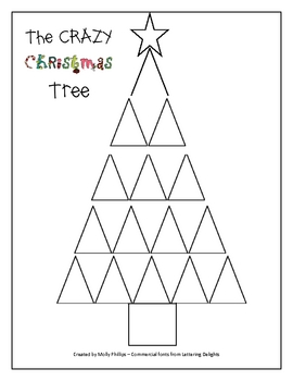 fractions the crazy christmas tree by elementary lesson plans tpt. Black Bedroom Furniture Sets. Home Design Ideas
