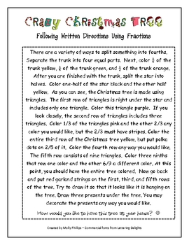 Fractions {The Crazy Christmas Tree}