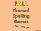 Fall Themed Spelling Race Games - Use with ANY spelling list!