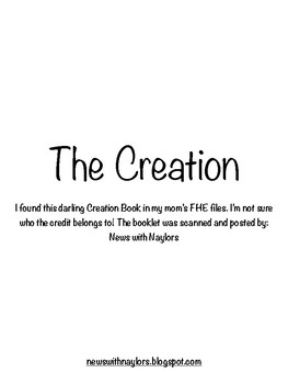 The Creation Booklet