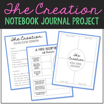 The Creation Notebook Journal Project and Activities - Bible Story Lesson