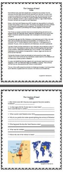 The Creation of ISRAEL Power Point, Reading/Questions & Graphic Organizer