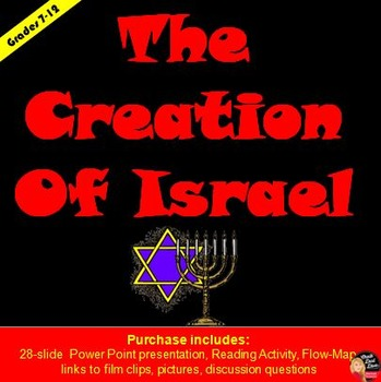 The Creation of ISRAEL Power Point, Reading/Questions & Gr