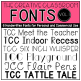 The Creative Classroom Fonts: Volume 1
