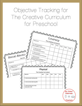 The Creative Curriculum Objectives Tracker