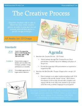 The Creative Process: A Framework for AP Studio Art 2D Design Breadth Portfolios