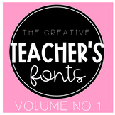 The Creative Teacher's Fonts VOL. 1