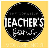 The Creative Teacher's Fonts Vol. 3