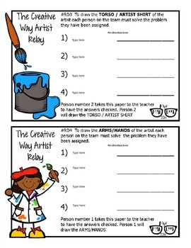 The Creative Way Artist Relay template - Personal Use Only!