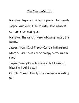 The Creepy Carrots Short dialogue