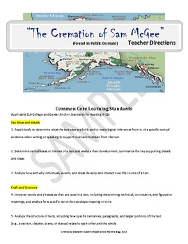 """The Cremation of Sam McGee"" - CCSS Aligned Close Reading Activity"