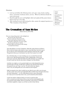 """The Cremation of Sam McGee"" by Robert Service - Poetry Study"