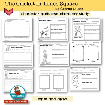 The Cricket In Times Square   Book Companion   Reader Response Pages
