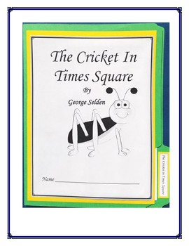 The Cricket In Times Square Book Report and Lapbook