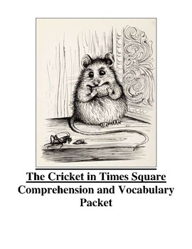 The Cricket In Times Square Guided Reading Unit (Level S)