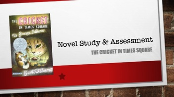 The Cricket In Times Square Novel Study and Assessment