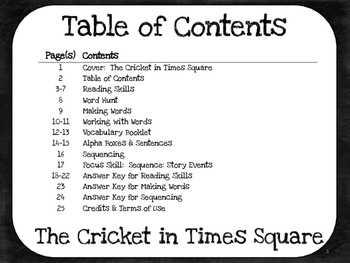 The Cricket in Times Square  4th Grade  Harcourt Storytown Lesson 23