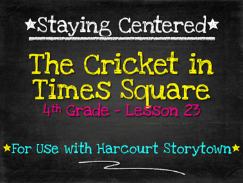 The Cricket in Times Square  4th Grade  Harcourt Storytown