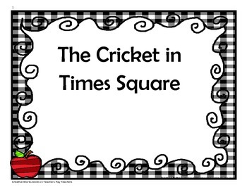 The Cricket in Times Square - 4th Grade - Tri Folds +Activities