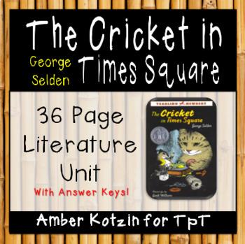 The Cricket in Times Square Literature Guide (Common Core