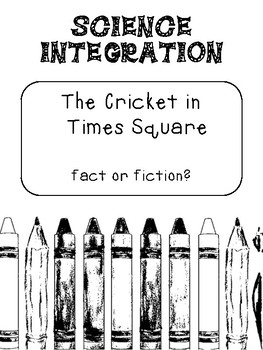 The Cricket in Times Square - Nonfiction Reading Passage
