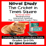 The Cricket in Times Square Novel Study + Enrichment Project Menu