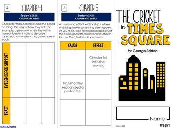 The Cricket in Times Square Foldable Novel Study Unit