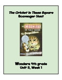 The Cricket in Times Square Scavenger Hunt (4th Grade Wond