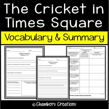 The Cricket in Times Square- Summary and Vocabulary Building