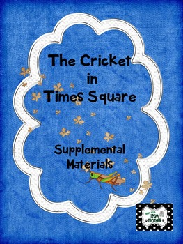 Cricket in Times Square - Supplemental Materials