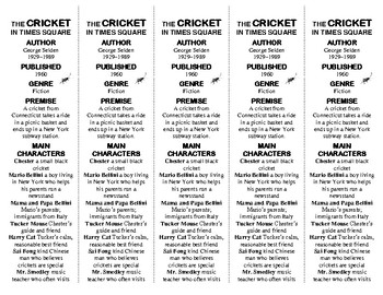 The Cricket in Times Square edition of Bookmarks Plus: A Handy Reading Aid!