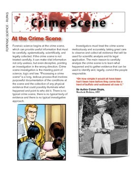 The Crime Scene w/key