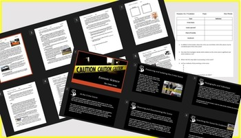 Forensics: The Crime Scene Notes, Review, and Teacher Power Point
