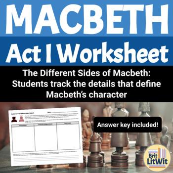 Macbeth, Act I Worksheet: The Criminal Mind
