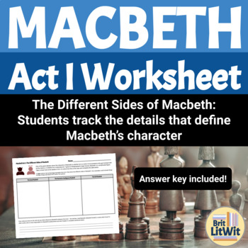 Macbeth, Act I Worksheet: The Criminal Mind