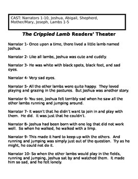 The Crippled Lamb Activity Packet