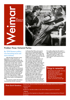 The Crises of Weimar Germany: Part Three