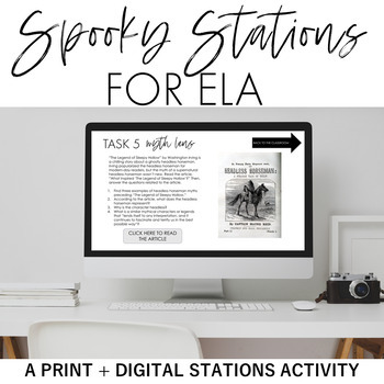 The Critical Reader's Spooky Stations: A Halloween or Thematic Stations Activity
