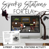 Spooky Stations: A Halloween or Thematic Stations Activity