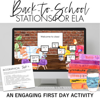 The Critical Thinker's First Day of School ELA Stations