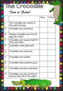 The Crocodile - True or False Quiz
