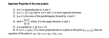 The Cross Product and its Applications