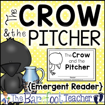 The Crow and the Pitcher Fable Emergent Reader