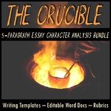 The Crucible 5-Paragraph Essay Writing Bundle