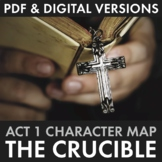 The Crucible Act 1 Character Map Review Activity for Arthur Miller's Play