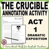 The Crucible Act 1 Dramatic Exposition Annotation for Comprehension and Analysis