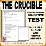 THE CRUCIBLE ACT 1 OBJECTIVE TEST Multiple Choice, Matching, Short Answer, Key